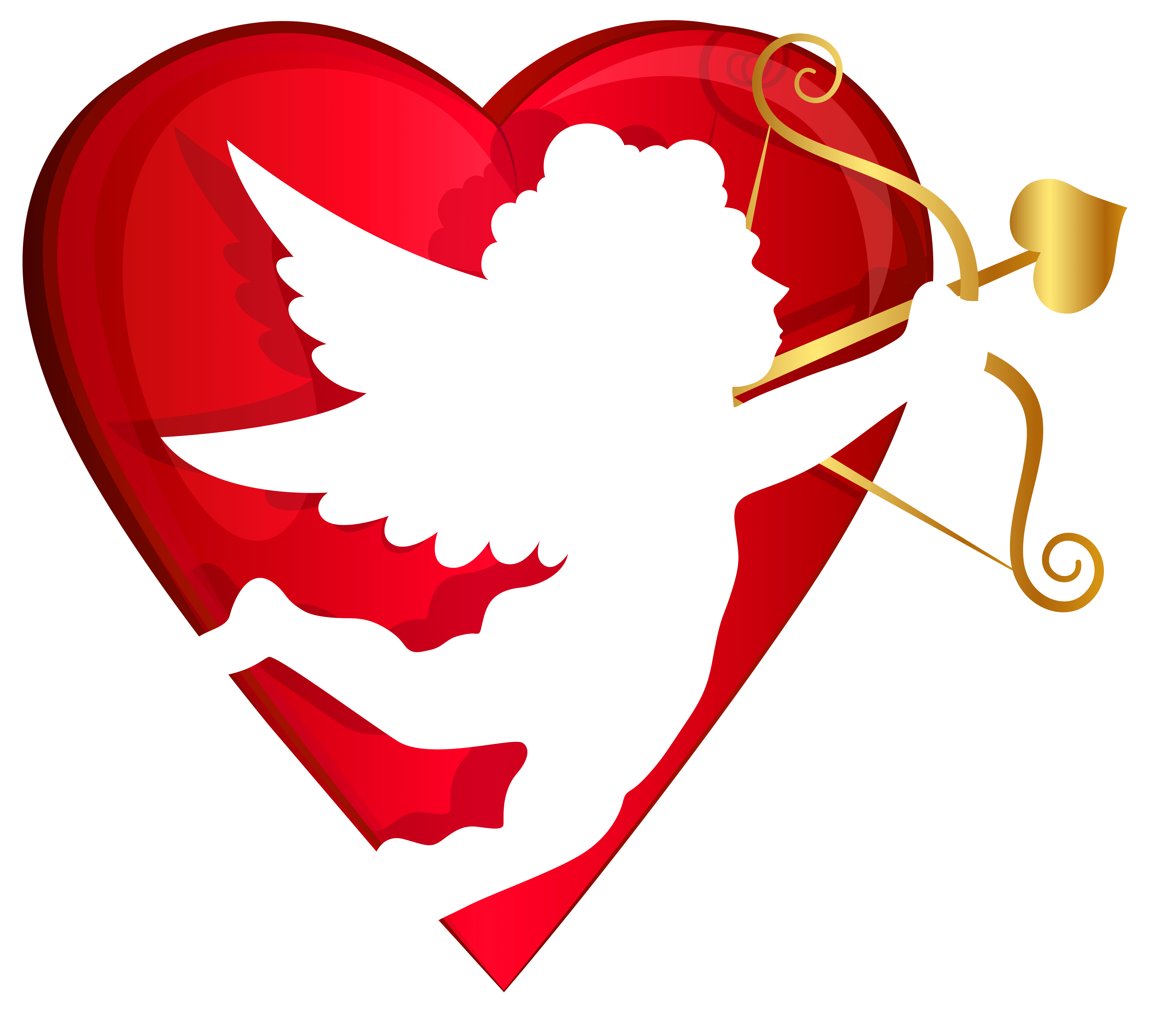 hight resolution of red heart and cupid transparent png clip art image