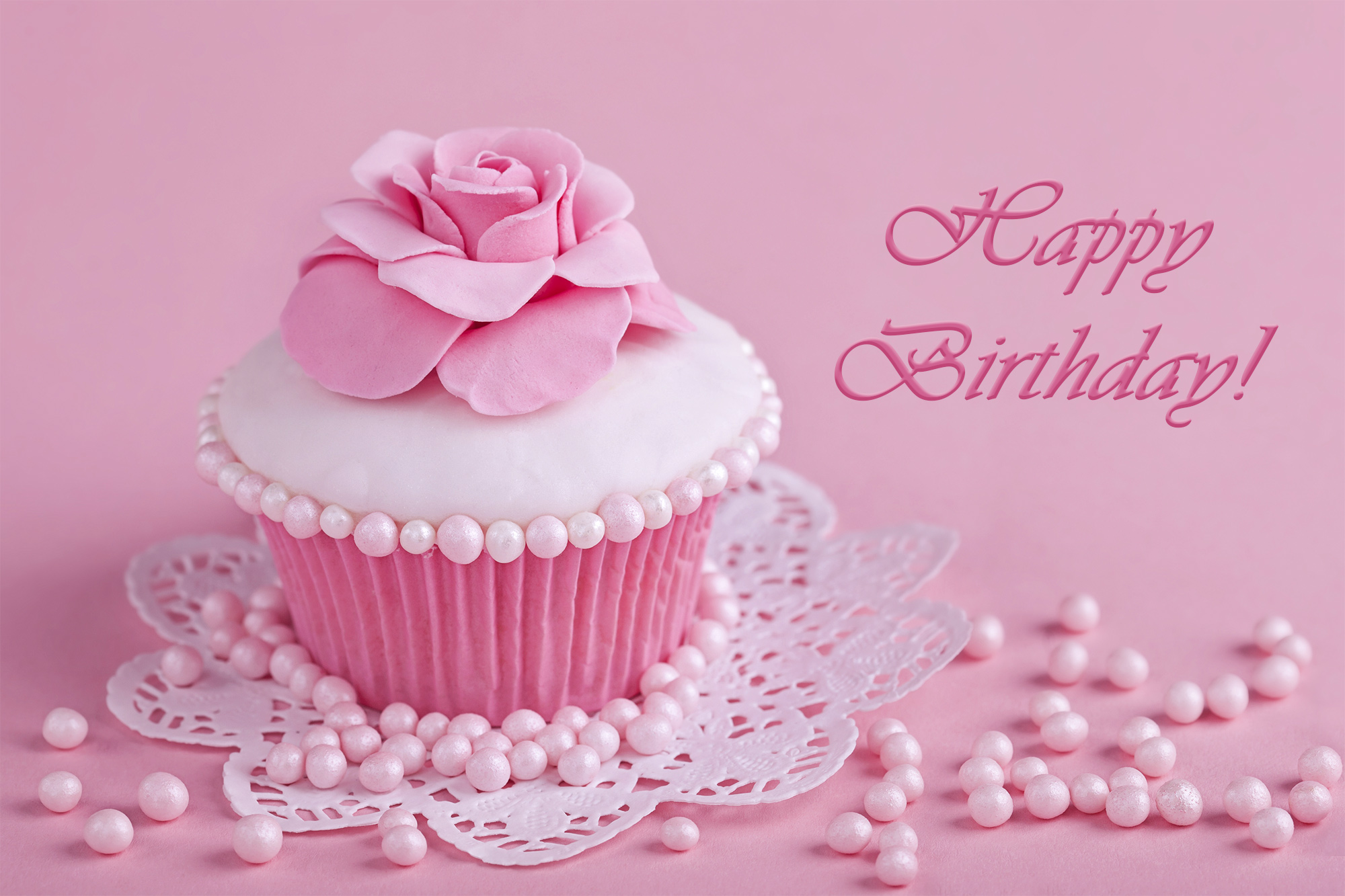 Happy Birthday Pink Greeting Card Gallery Yopriceville