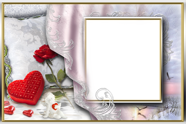 romantic frame with heart