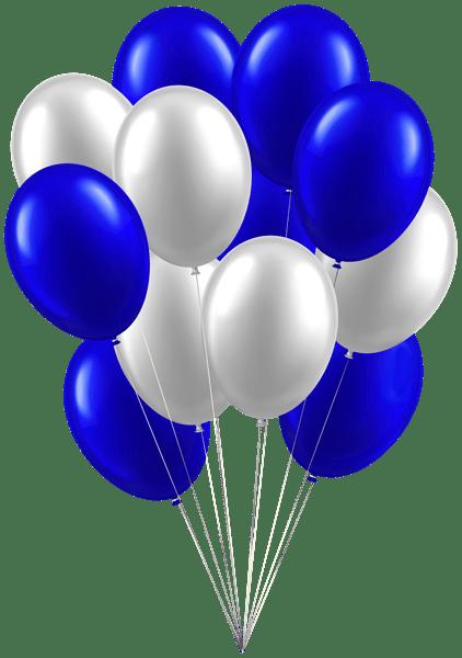 balloons white blue clip art