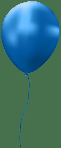 blue single balloon clip art