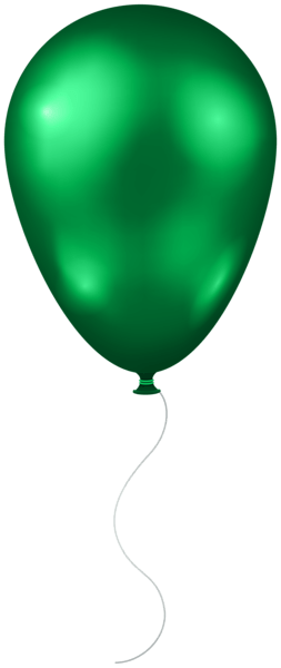green balloon transparent clip