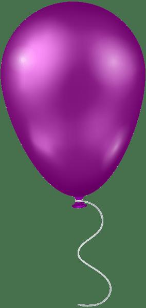 purple balloon transparent