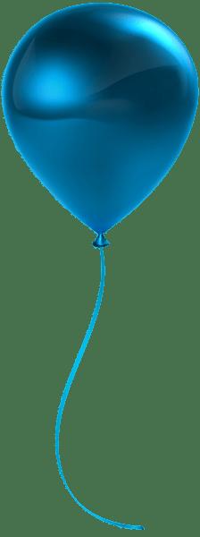 single blue balloon transparent