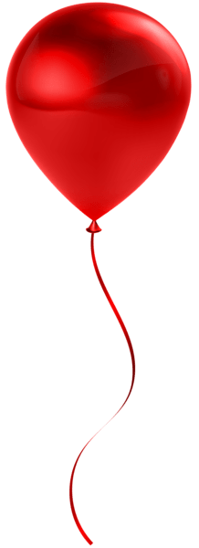single red balloon transparent
