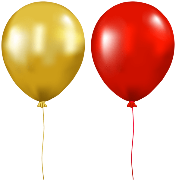 two balloons clip art