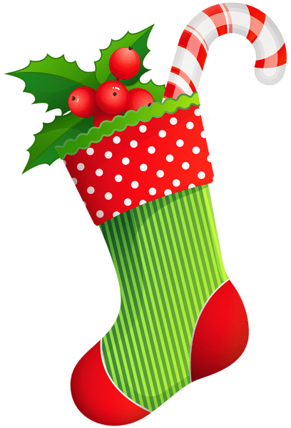 christmas holiday stocking transparent