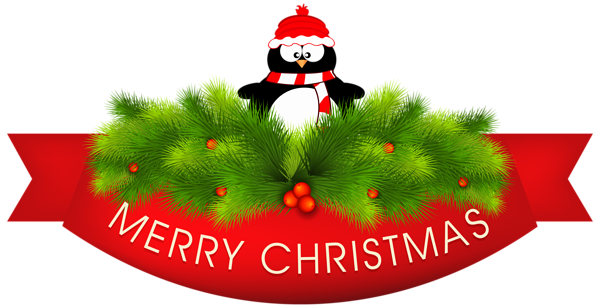merry christmas decor with penguin