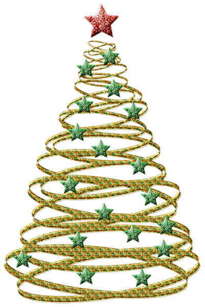 transparent gold christmas tree