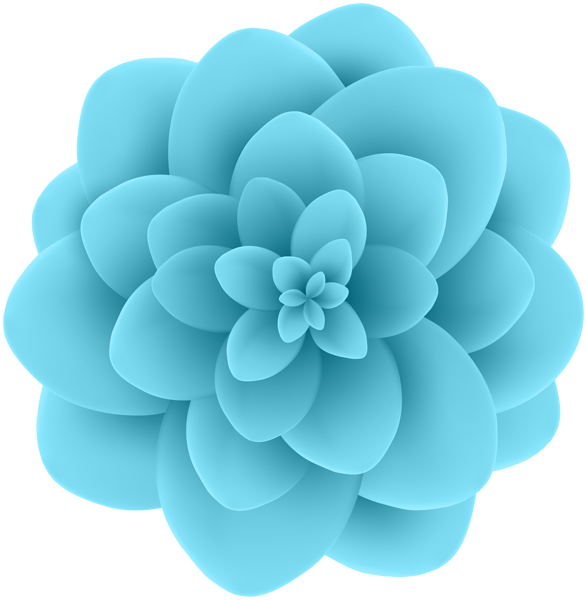 deco blue flower transparent clip