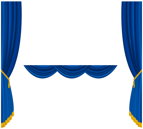 Transparent Blue Curtains Decoration Png Clipart Gallery Yopriceville High Quality Images