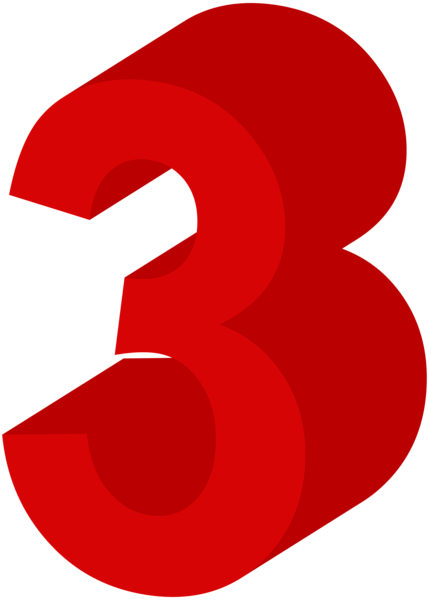 Number Three Red PNG Clip Art Image   Gallery Yopriceville - High-Quality Images and Transparent PNG Free Clipart