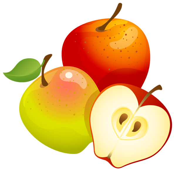 large painted apples clipart