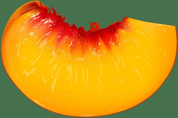 peach slice transparent