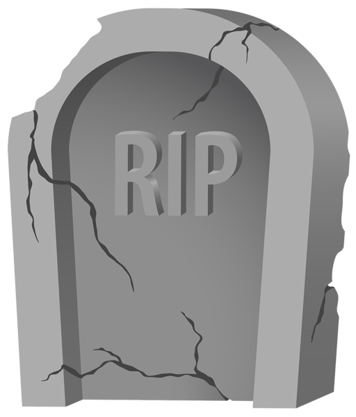 rip tombstone and purple clipart