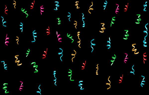 colorful confetti transparent