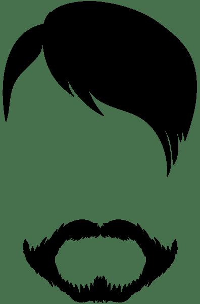 male hair and beard clip art