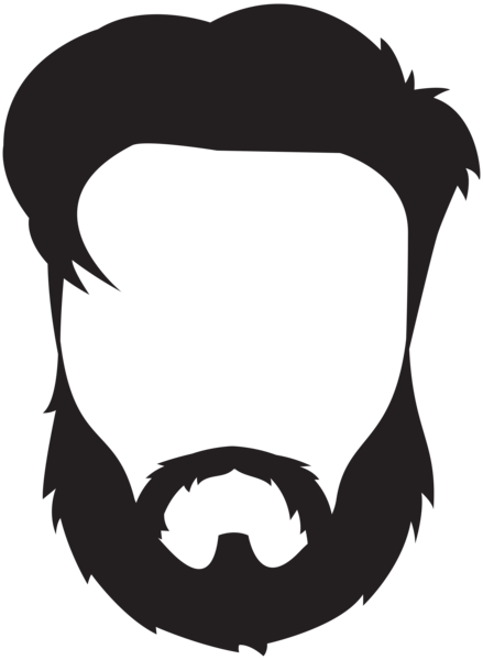 man hair beard mustache clip