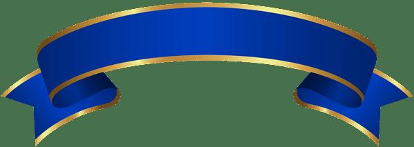 blue gold banner transparent clip