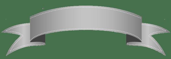 silver transparent banner clipart