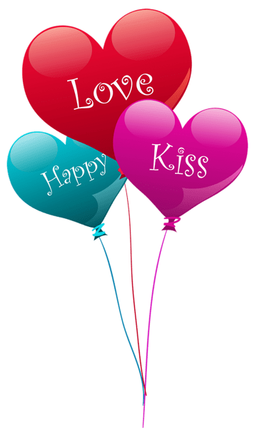 transparent heart kiss love happy