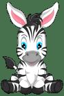 cute zebra cartoon clipart