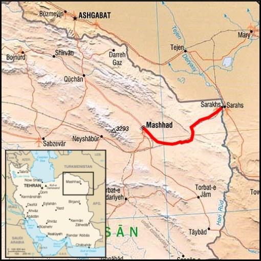 Map mashhad to sarakhs travellingtwo bicycle touring around the map mashhad to sarakhs iran route 4 gumiabroncs Choice Image
