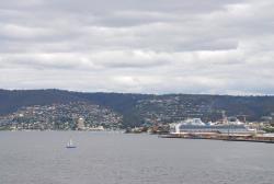 Cruise ships and sailboats