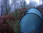Our first night wild camping in France