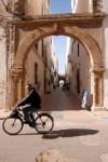 A cyclist inside Essaouira