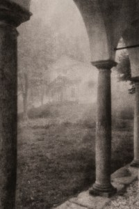 """""""Oropa in Fog"""" © David Aimone. Approx. 6"""" x 9"""" handcrafted bromoil print on Fomabrom Variant 123. Signed single edition print offered by GALLERY5X7 at $325."""