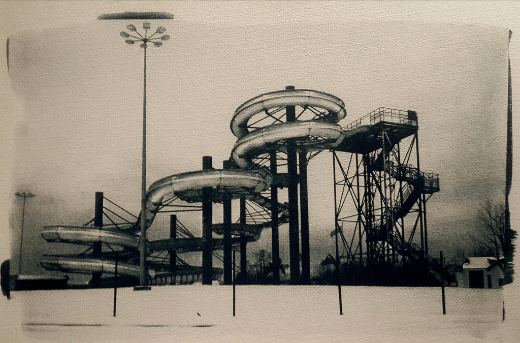 """""""Dreamland Is Waiting For Summer 1"""" © Anna Melnikova. Approx. 10x14"""" (25x35cm) handcrafted alternative process photograph (original toned cyanotype print from a digital negative). GALLERY5X7 offers this original, signed print at $250."""