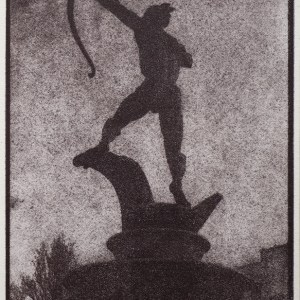 """""""Apollo"""" © Alan Glover. Approx 8x4.75"""" handcrafted gum bichromate print from a single negative using watercolour pigments on Hahnemuhle Platinum Rag paper. GALLERY5X7 offers this original print, signed on the mount (mount size 12x8.25"""")."""