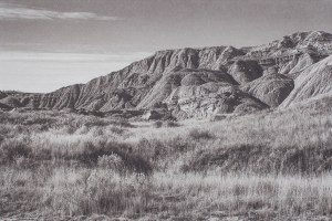 """""""Oglala National Grassland Nebraska"""" © Tom Wise. Oglala National Grassland, Sioux County Nebraska. Approx. 6x9"""" (15.2x22.9cm) handcrafted alternative process photograph (palladium and gold-toned kallitype). GALLERY5X7 offers this signed, original print at $250."""
