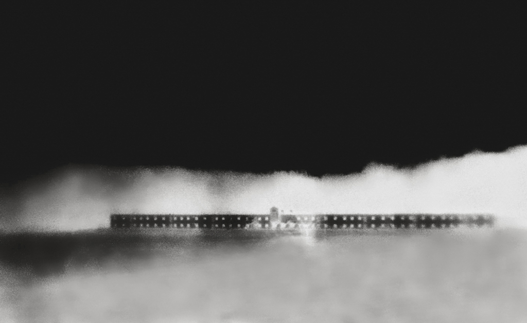 """""""Compound"""" © Marc Sirinsky. Approx. 6.5x9"""" handcrafted silver gelatin print from antique bakelite camera negative. Original, signed, editioned (1/10) print offered at $250."""
