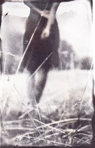 """""""Avant l'automne"""" © Xavier Vanlaere. Approx. 2.8x3.5"""" (7x9cm) handcrated alternative process photograph (silver gelatin print) developed in darkroom with a paintbrush on multigrafe FB photographic paper."""