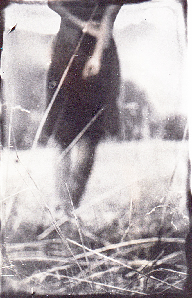 """""""Avant l'automne"""" © Xavier Vanlaere. Approx. 2.8x3.5"""" (7x9cm) handcrated alternative process photograph (silver gelatin print) developed in darkroom with a paintbrush on multigrafe FB photographic paper. GALLERY5X7 offers this signed, original print at $250."""