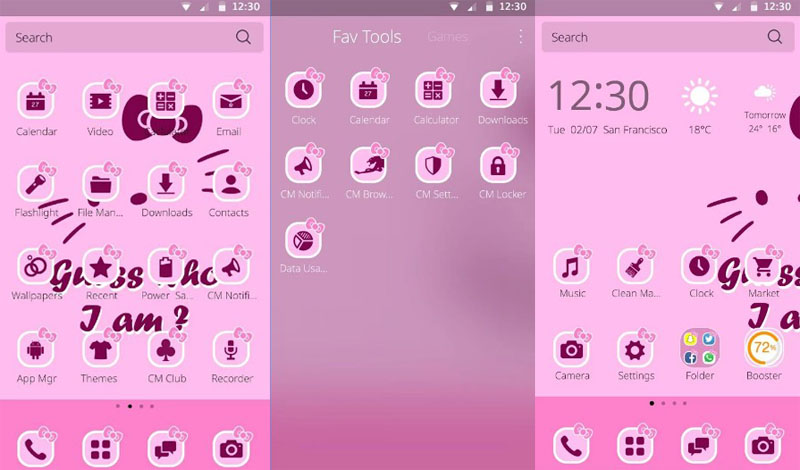 hello kitty tema android