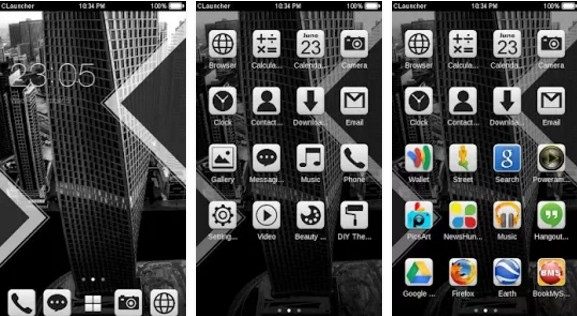 c launcher themes Black View C Launcher Theme