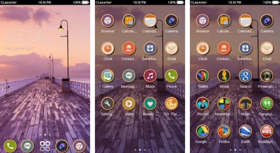 c launcher themes Blurry Nature CLauncher Theme