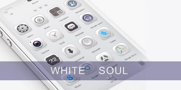 go launcher themes White Soul