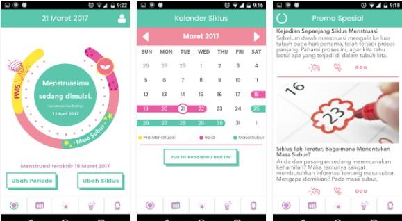 aplikasi kalender menstruasi android