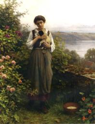 Knight_Daniel_Ridgway_Young_Girl_Holding_a_Puppy