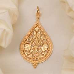 Baby Egg High Chair On Byzantine-rus Filigree Pendant (14kt Yellow Gold)(large) - Gallery Byzantium
