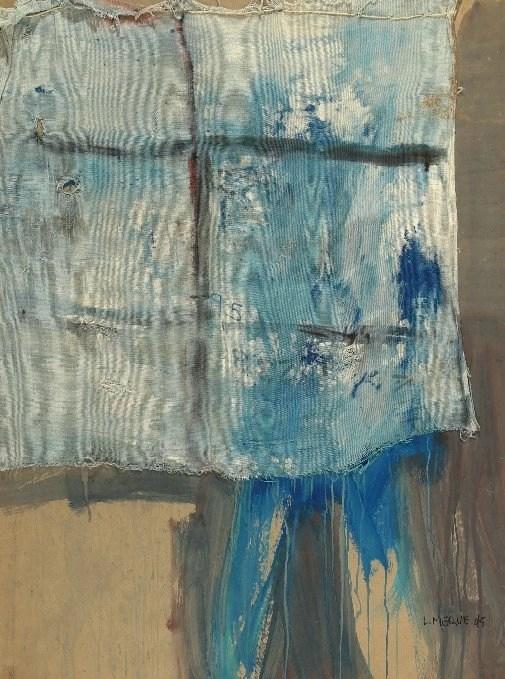 Luis Meque, Magic Window,1995, Mixed Media on Paper, 145 x 110 cm
