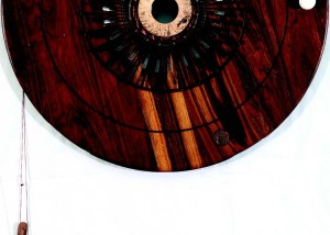 Sun, 2014 Wood, Mbira, Ceramic Leather, Glass Beads 127 x 75 cms