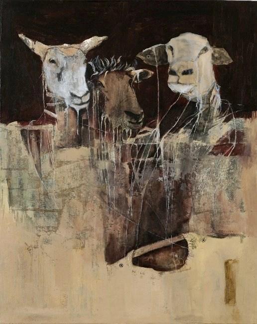 Wallen Mapondera, Undressing to Redress, 2014, Acrylic on canvas, 100 x 80 cm