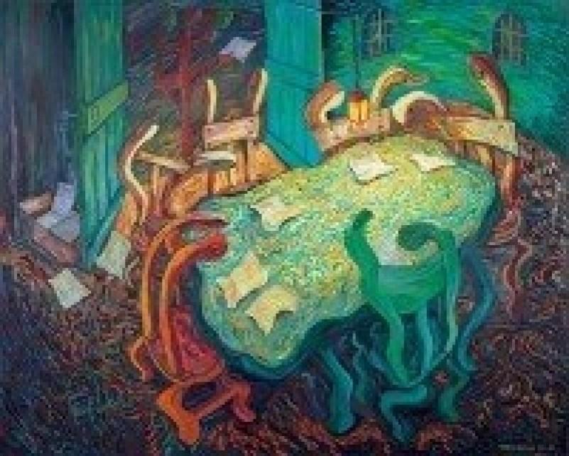 Cosmas Shiridzinomwa, 'The Scrutiny,' Oil on Canvas, 2013-2018