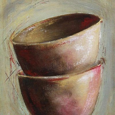 Janis Hopley 2 bowls abstract