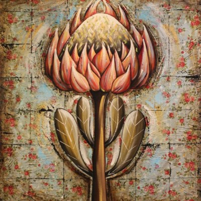 painting of one protea